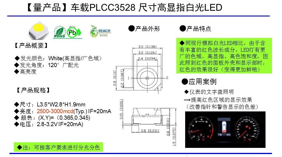 PLCC 3528封装白光series
